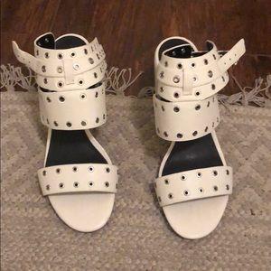 Rebecca minkoff white sandal heels